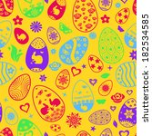 seamless pattern of easter eggs ... | Shutterstock .eps vector #182534585