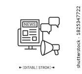 press release icon. newspaper...   Shutterstock .eps vector #1825347722