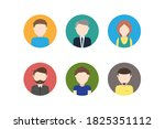 round user avatars. isolated... | Shutterstock .eps vector #1825351112