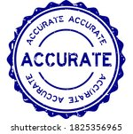 grunge blue accurate word round ... | Shutterstock .eps vector #1825356965