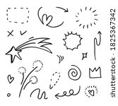 hand drawn set elements  for...   Shutterstock .eps vector #1825367342