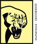 black panther head vector...   Shutterstock .eps vector #1825383035