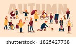 vector autumn concept on... | Shutterstock .eps vector #1825427738