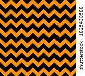 black zigzag pattern on orange... | Shutterstock .eps vector #1825430588