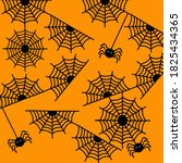 black spider and web seamless... | Shutterstock .eps vector #1825434365