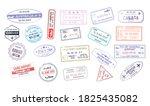 stamp in passport for traveling ... | Shutterstock .eps vector #1825435082