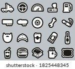 truck driver icons white on... | Shutterstock .eps vector #1825448345