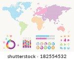 world infographic | Shutterstock .eps vector #182554532
