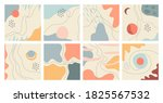 set of 8 abstract pastel... | Shutterstock .eps vector #1825567532
