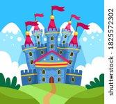 fairytale castle for princess   ... | Shutterstock .eps vector #1825572302