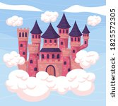 fairytale castle for princess   ... | Shutterstock .eps vector #1825572305