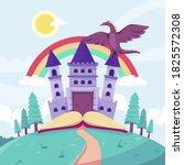 fairytale castle for princess   ... | Shutterstock .eps vector #1825572308