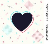 heart sign on abstract... | Shutterstock .eps vector #1825576232
