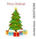 decorated christmas tree with... | Shutterstock .eps vector #1825576358