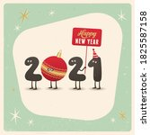 vintage style funny greeting... | Shutterstock .eps vector #1825587158