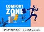 leave comfort zone   business...   Shutterstock .eps vector #1825598138