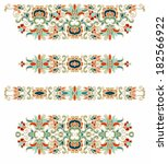 Seamless decorative oriental vector pattern