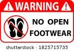 no open footwear or no slipper...   Shutterstock .eps vector #1825715735
