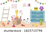 Kids Toys In Boxes. Playroom...