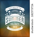 summer vector typography.... | Shutterstock .eps vector #182573726