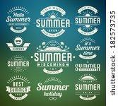 summer holidays design elements ...   Shutterstock .eps vector #182573735