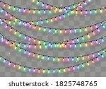 christmas lights isolated on... | Shutterstock .eps vector #1825748765