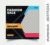 fashion sale banner design for... | Shutterstock .eps vector #1825751015