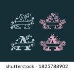 alphabet split monograms. baby... | Shutterstock .eps vector #1825788902