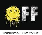 Off Dripping Emoji Print Design