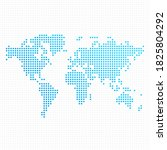 dotted world map. template of... | Shutterstock . vector #1825804292