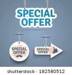 special offer print labels.... | Shutterstock .eps vector #182580512