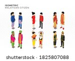 isometric malaysian citizen in... | Shutterstock .eps vector #1825807088
