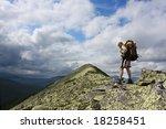 hiking in the carpathian... | Shutterstock . vector #18258451