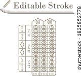 roulette table icon. editable...