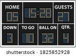 american football scoreboard...