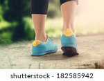 blue shoes and trip  | Shutterstock . vector #182585942