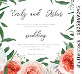 wedding floral invite  greeting ... | Shutterstock .eps vector #1825869245