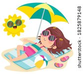 Cartoon Character Sunbathing On ...