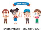 funny child showing human body... | Shutterstock .eps vector #1825890122