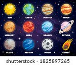 colorful planets of solar system | Shutterstock .eps vector #1825897265