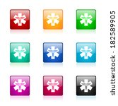 emergency web icons set | Shutterstock . vector #182589905