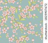 cherry blossom seamless pattern....   Shutterstock . vector #1825907672