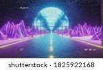 80s retro futuristic sci fi.... | Shutterstock . vector #1825922168