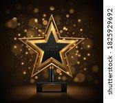 Golden Award With Back Bokeh...