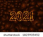 2021 happy new year eve glowing ... | Shutterstock .eps vector #1825935452