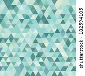 retro pattern of geometric... | Shutterstock .eps vector #182594105