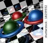 Metallic Spheres With Rings In...