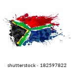 south african flag made of... | Shutterstock .eps vector #182597822