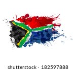 South African Flag Made Of...