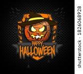 happy halloween. logo... | Shutterstock .eps vector #1826068928